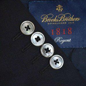 48L Brooks Brothers Regent Navy Blue Hopsak Blazer